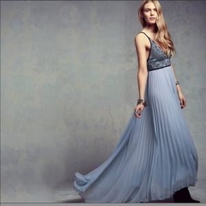 Free People Bell of the Ball Blue Gown, 8
